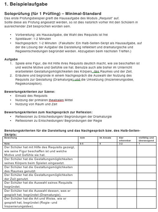 """10.1 Requisit – Kompetenzüberprüfung – Tutorial zum """"Kursbuch Theater machen"""""""