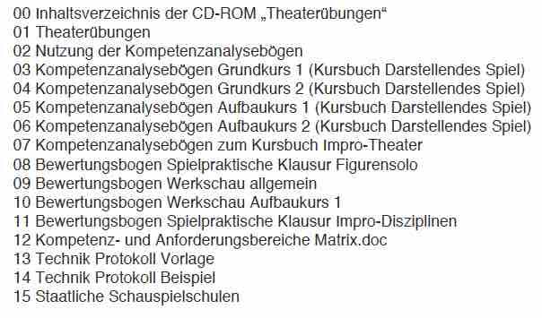 Theaterübungen
