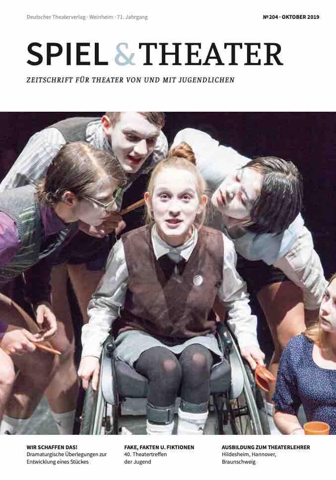 Spiel & Theater Heft 204 Oktober 2019 Cover